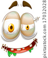Zombie style facial emojicon 17032028
