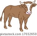 奶牛 矢量 荷斯坦種奶牛 17032650