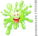 Happy looking green splash. 17034286
