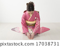 kimono, greeting, three 17038731