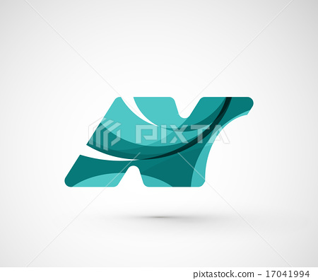 Abstract geometric company logo N letter 17041994