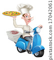 moped, pizza, chef 17042061