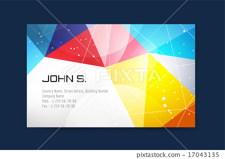 Business Card Template Design Abstract Triangle And Creative Idea Blank