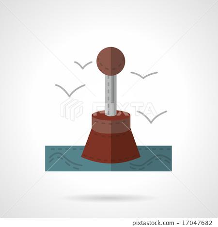 Restrictive buoy flat vector icon 17047682