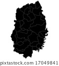 일러스트 : 이와테지도 (흑색) 17049841