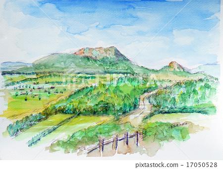 우스와 쇼와신잔의 스케치 그림 17050528