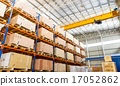 Shelves and racks in distribution warehouse interi 17052862