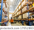 Modern warehouse with forklifts 17052863