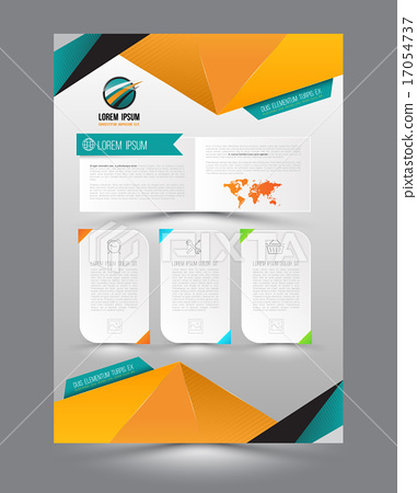 Vector design page template origami modern style.  17054737