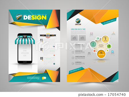 Vector design page template modern style.  17054740