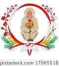 新年贺卡材料 矢量 猴子 17065516
