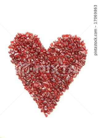 Bohemian garnets in heart 17069863