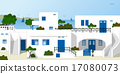 Traditional greek houses 17080073