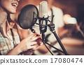 Woman singer in a recording studio 17080474