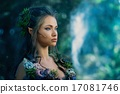 Elf woman in a magical forest 17081746