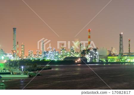 Night view of the Kanagawa Kawasaki plant 17082817