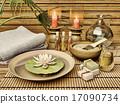 莲花 蜡烛 毛巾 17090734