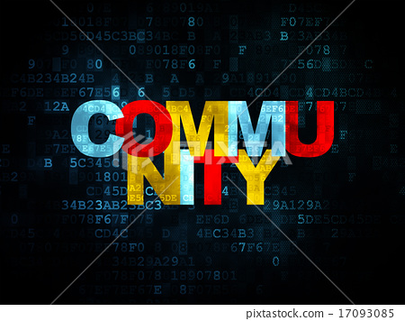 Social media concept: Community on Digital background 17093085