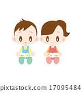 reading girl boy 17095484