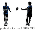 rugby men players silhouette 17097293