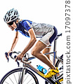 woman triathlon ironman athlete cyclist cycling 17097378