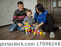 happy family play with cubes 17098248