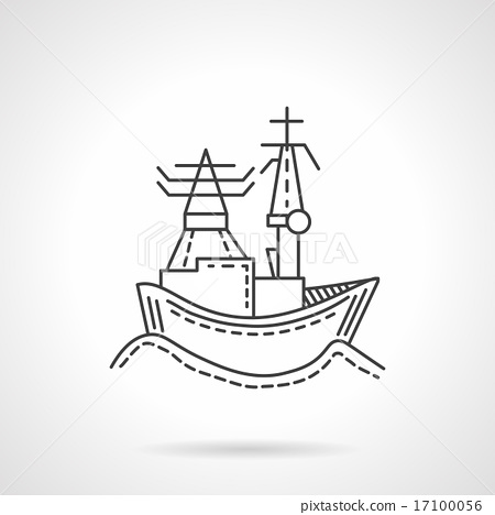 Harbor abstract line vector icon 17100056