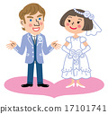 bride and groom, international marriage, bridal couple 17101741