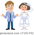 bride and groom, bridal couple, international marriage 17101742
