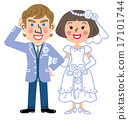 bride and groom, bridal couple, international marriage 17101744