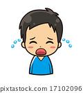 矢量 哭 哭泣 17102096