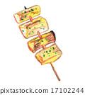 杏鮑菇 雞肉烤串 日式烤雞串 17102244