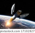 Crew Exploration Vehicle Orbiting Earth 17102827