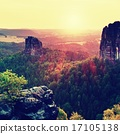 Popular climbers resort in Saxony park,  17105138