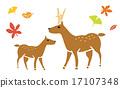 사슴과 단풍 17107348