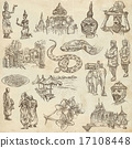 Cambodia - Hand drawn illustrations. Frehand pack. 17108448