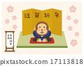 新年贺卡材料 矢量 动物 17113818