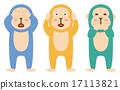 three, wise, monkeys 17113821