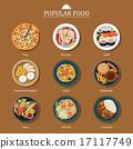 set of popular food 17117749