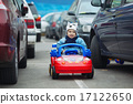 cute little boy on parking 17122650