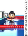游泳池 游泳 女生 17127517