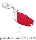 Map Malta 17129379