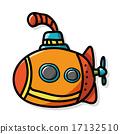 submarine color doodle 17132510