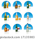 alcohol drinks icon set 17135983