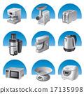 kitchen appliances icon set 17135998