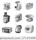 kitchen appliances icon set 17135999