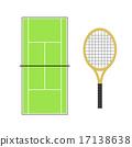 網球拍 網球場 體育設施 17138638