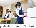 女士 廚房 擦洗 17139643