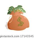 sack, money, heap 17143545