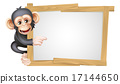 chimp, sign, cartoon 17144650